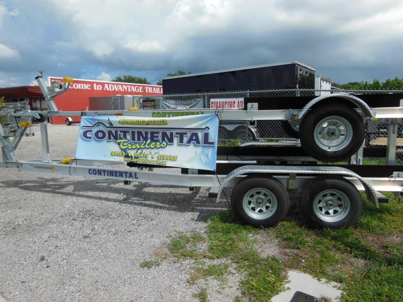 2017 Continental Trailers CTV944-58B Galvanized Tilt Boat Trailer