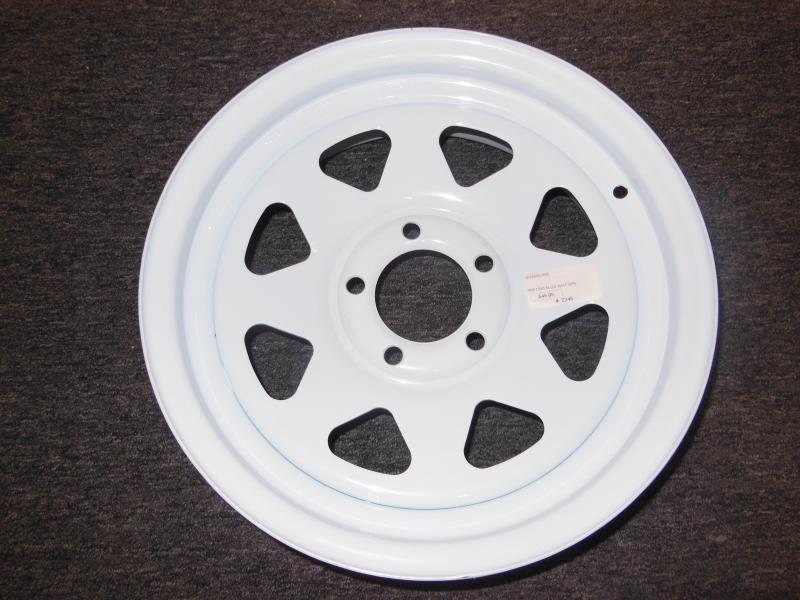 RIM ONLY 15 X 5  5 LUG  WHITE SPOKE