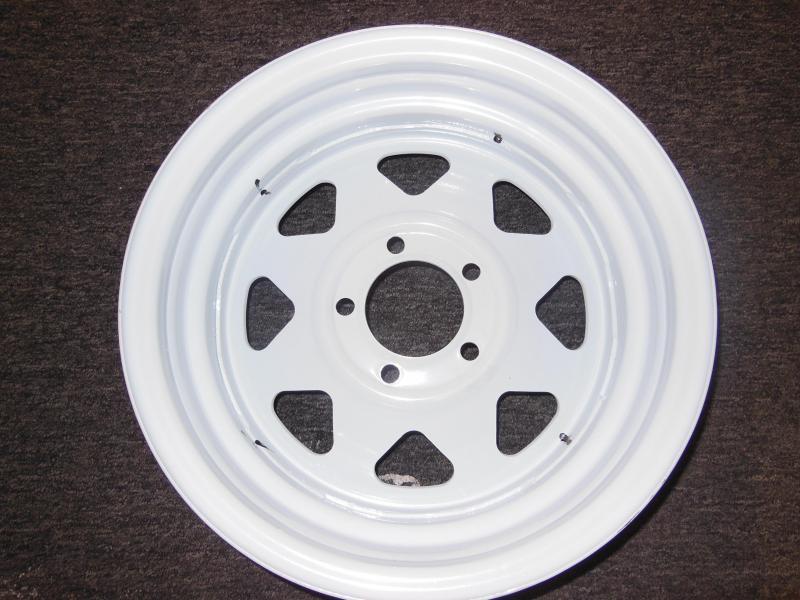 RIM ONLY 15 X 5  5 LUG  WHITE SPOKE