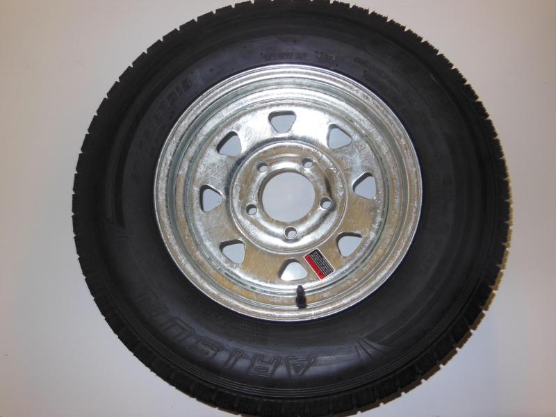 TIRE & RIM 175/80/D13  5 LUG GALVANIZED