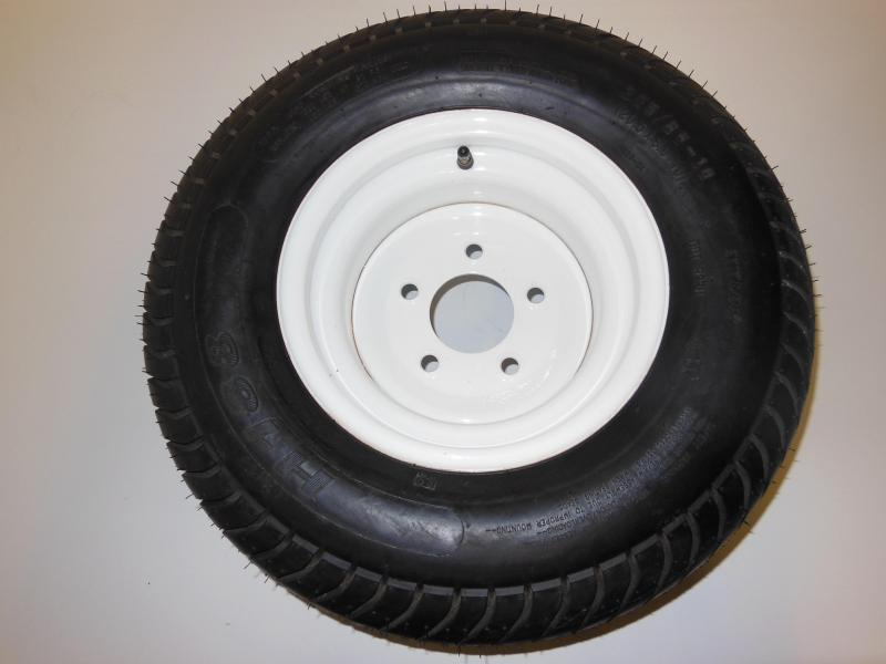 TIRE & RIM 20.5/8/10  5 LUG WHITE