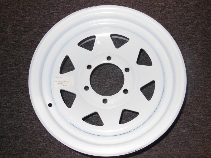 RIM ONLY  15 X 6   6 LUG  WHITE SPOKE