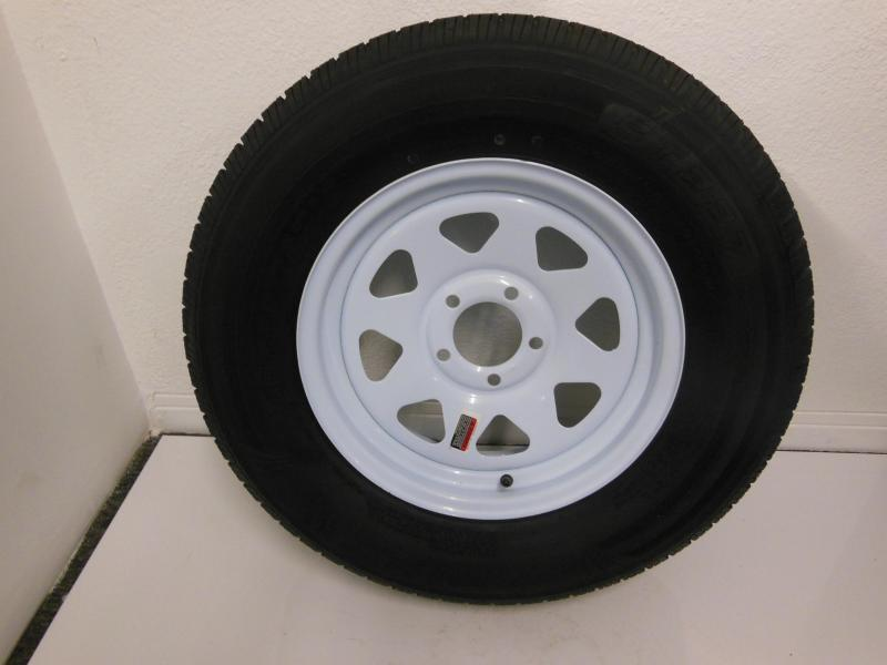 TIRE & RIM 205/75/D15  5 LUG  WHITE SPOKE