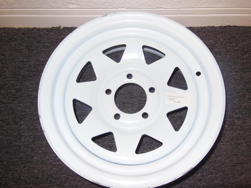 RIM ONLY 14 X 5.5  5 LUG  WHITE SPOKE