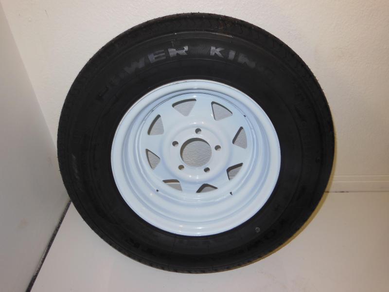 TIRE & RIM 205/75/R14  5 LUG WHITE SPOKE