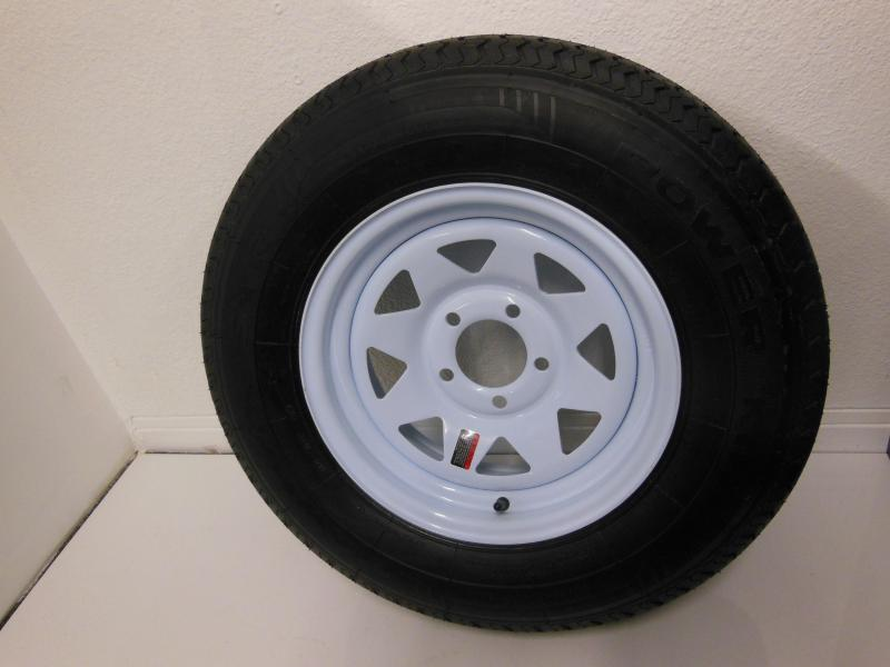 TIRE & RIM 205/75/R14  5 LUG WHITE SPOKE