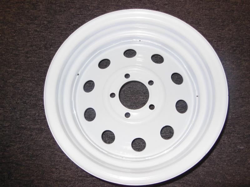 RIM ONLY  15 X 5  5 LUG  WHITE MOD