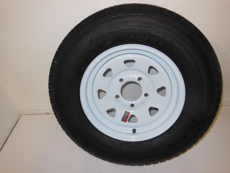 TIRE & RIM 175/80/D13   5 LUG  WHITE SPOKE