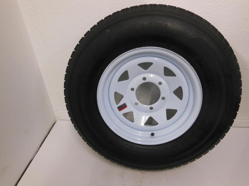 TIRE & RIM 225/75/D15  6 LUG WHITE SPOKE