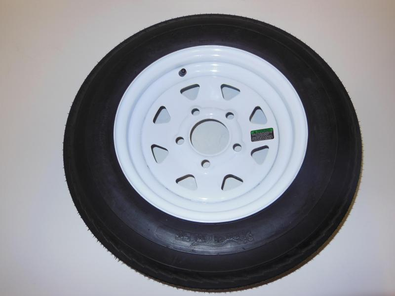 TIRE & RIM 5.30 - 12    5LUG WHITE SPOKE