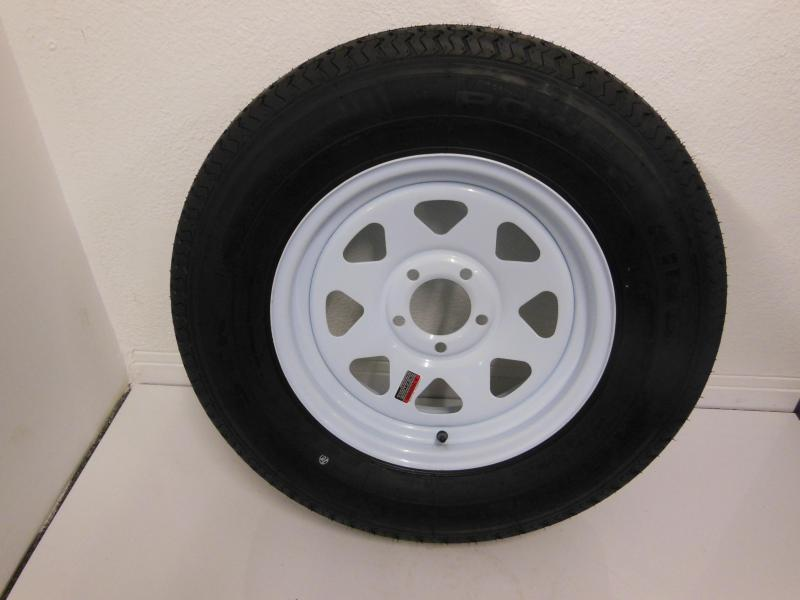 TIRE & RIM 205/75/R15  5 LUG   WHITE SPOKE