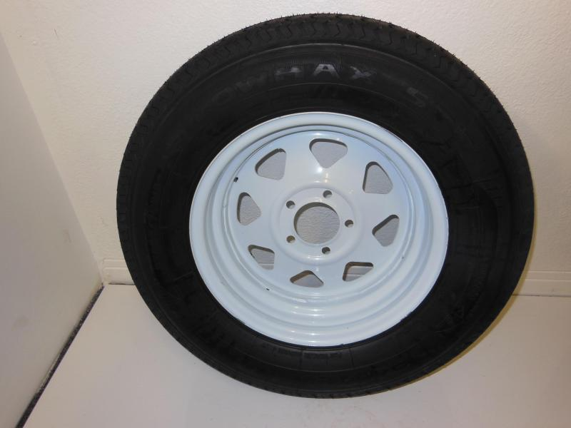 TIRE & RIM 205/75/R15  5 LUG   WHITE SPOKE