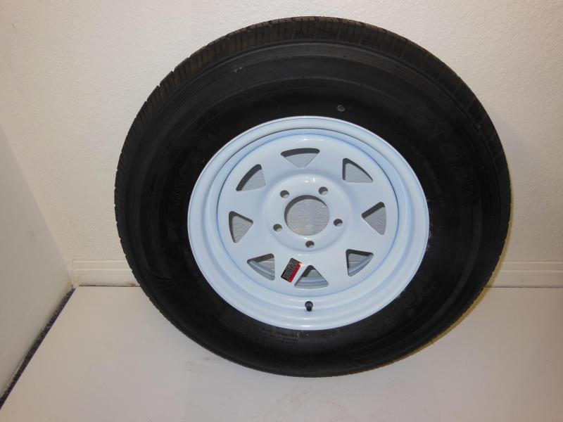 TIRE & RIM 205/75/D14  5 LUG  WHITE SPOKE
