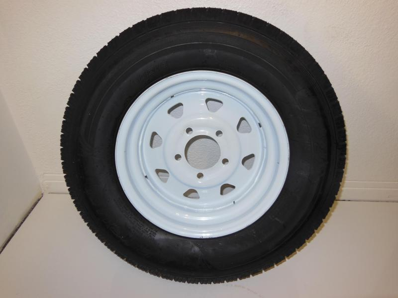 TIRE & RIM 175/80/D13 5LUG  WHITE SPOKE