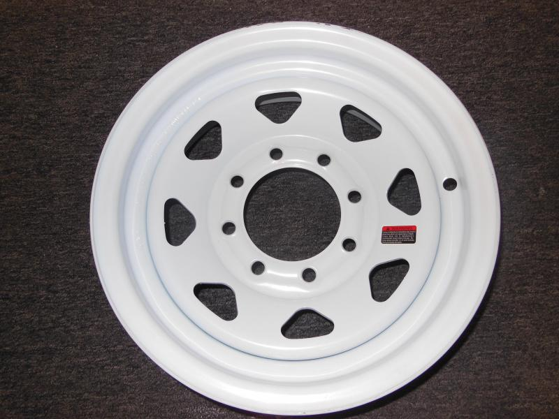 RIM ONLY  16 X 6   8 LUG  WHITE SPOKE