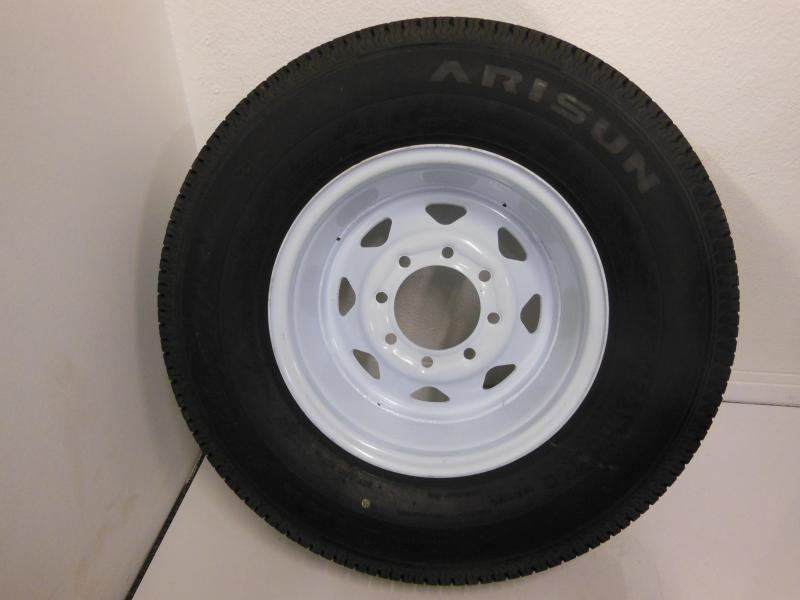 TIRE & RIM 235/80/R16  8 LUG  WHITE SPOKE