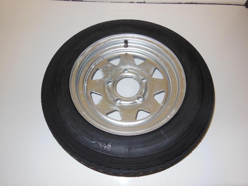 TIRE & RIM 4.80 - 12 5 LUG GALVANIZED