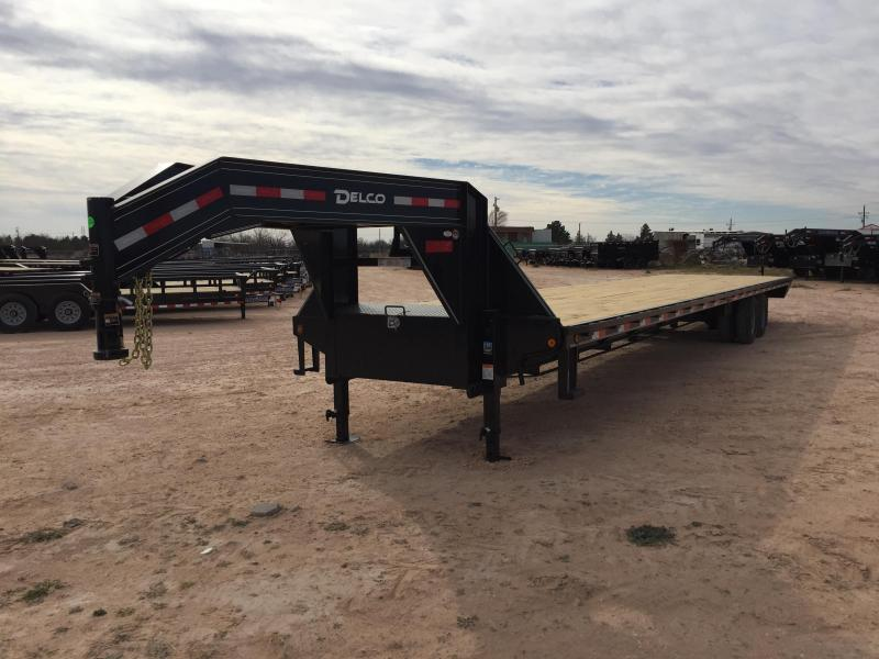 "2018 Delco 102"" X 40' 24000 GVW Tandem Heavy Duty Gooseneck Equipment Trailer"