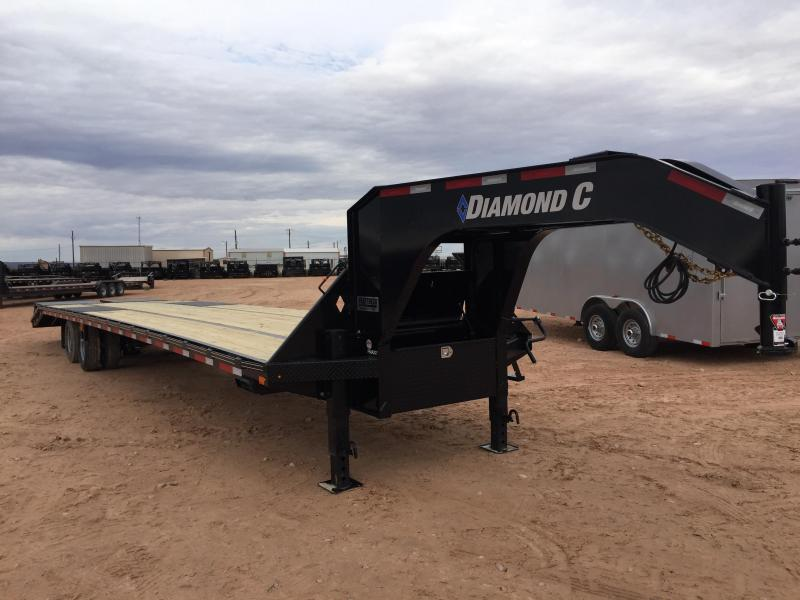 2019 Diamond C Trailers 40' Gooseneck HotShot Air Ride w/ HD Ramps