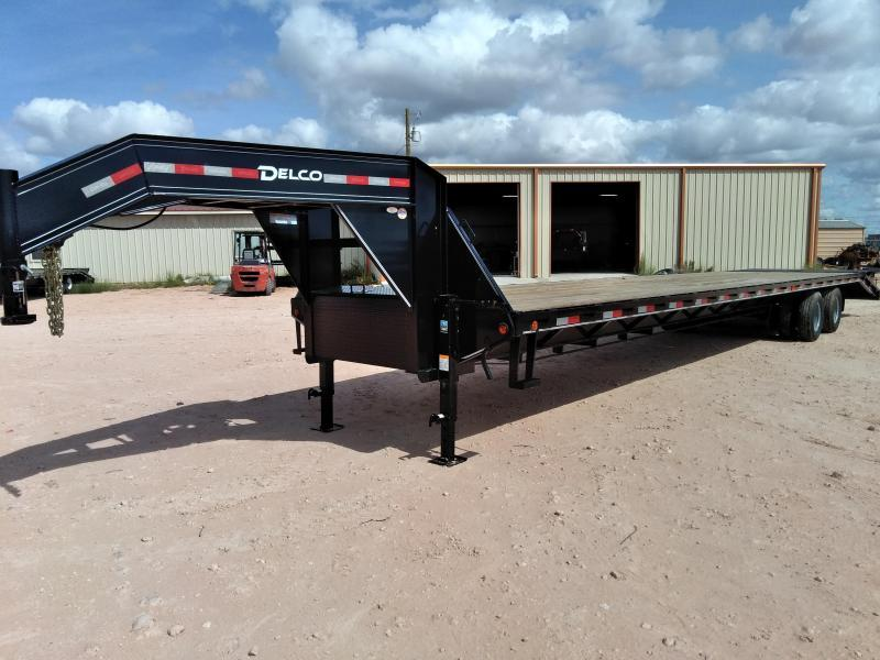 "2019 Delco 102"" X 40' Tandem Heavy Duty Gooseneck Equipment Trailer"