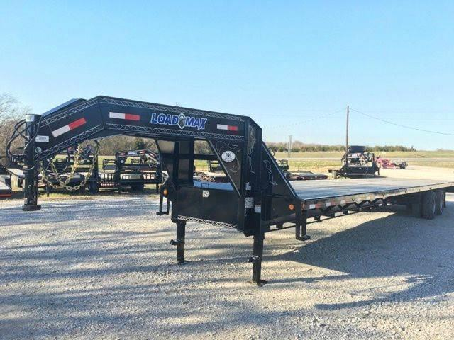 "2019 Load Trail 102""X40' LOW PRO Flatbed gooseneck trailer w/ slide in ramps"