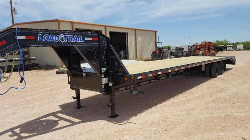 2020 Load Trail 40' Gooseneck Hot Shot Trailer w/ Max Ramps and Disc Brakes