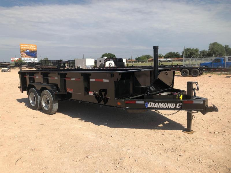 2019 Diamond C 16' 20K HD Dump Trailer