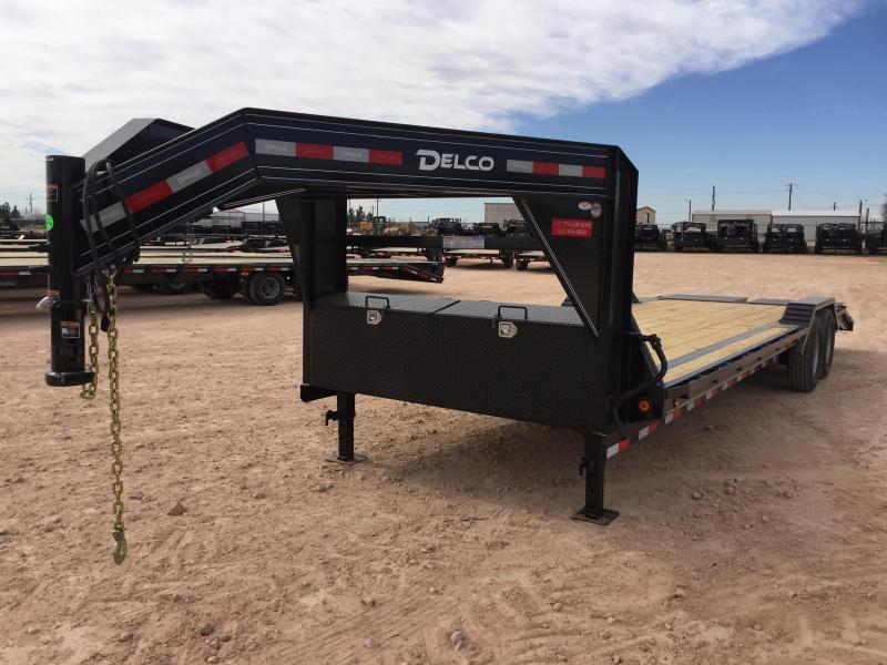 "2019 DELCO 102"" X 30' GOOSENECK CARHAULER W/ MAX RAMPS"