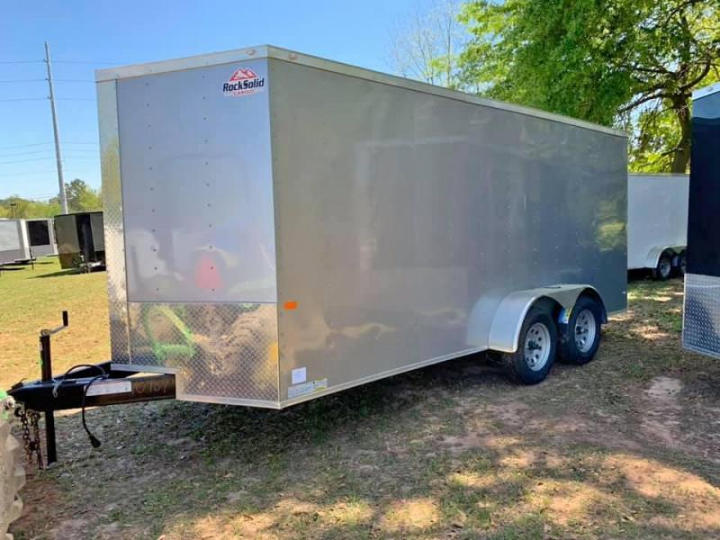 2020 Rock Solid Cargo 7x16 Tandem Axle Enclosed Cargo Trailer