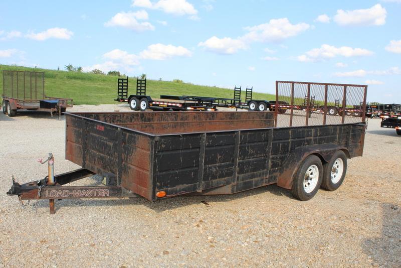 Used 2004 Loadmaster 82 x 16 TA Tandem Axle Dump Trailer