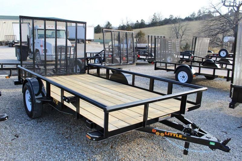 2017 Doolittle Trailers 77x12 Single Axle Utility
