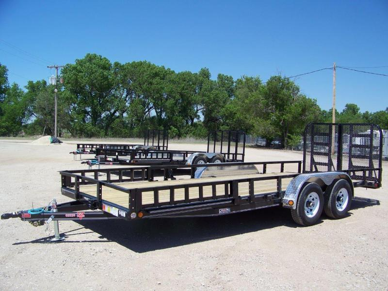 "2018 PJ Trailers 20' x 83"" Tandem Axle Channel Utili Trailer"