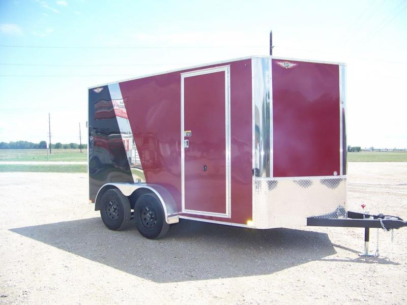 2018 H&H 7x12 TFT Enclosed Cargo Trailer