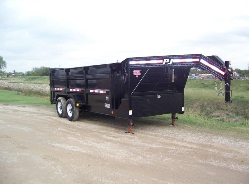 "2017 PJ Trailers 83"" Low Pro XL High Side Dump (DK) 16'"