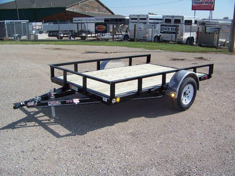 "2016 PJ Trailers 77"" Channel Utility (U7) 10'"