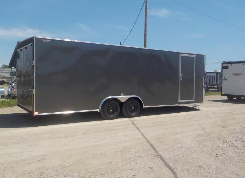 2019 H and H Trailer 101X24 HH F-TOP Enclosed CARHAUL VNOSE 10K CARGO