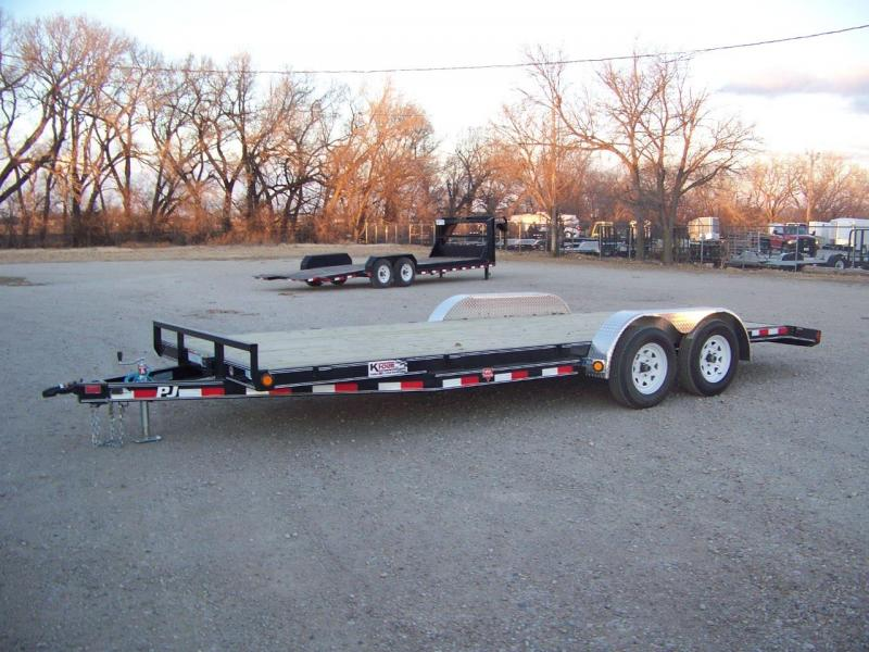"2018 PJ Trailers 20' x 5"" Channel Carhauler Open Trailer"