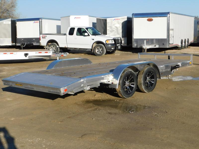 2019 H&H 8.5x18 HDA Aluminum Open Car Trailer