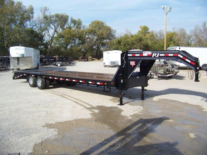 2019 PJ 30' [LD] Low-Pro Flatdeck with Duals Trailer