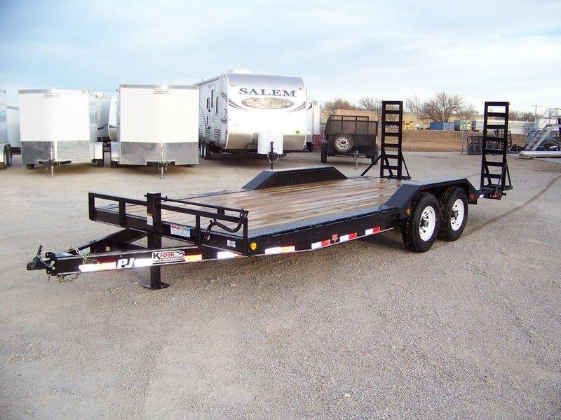 "2017 PJ Trailers 6"" Channel Super-Wide (B6) 20' Equipment Trailer"