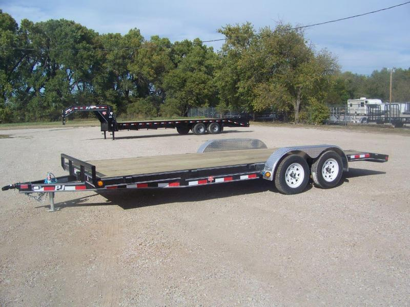 "2019 PJ Trailers 20'x5"" Channel Carhauler Trailer"