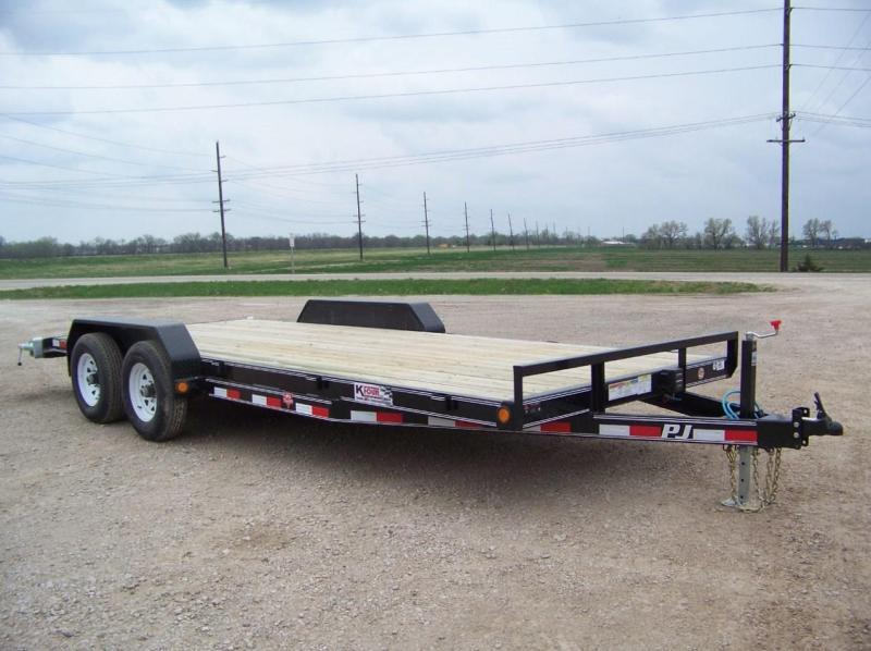 "2019 PJ Trailers 20'x5"" Open Car Trailer"