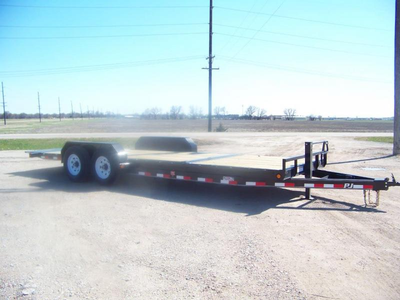 "2019 PJ Trailers 22'x6"" Channel Equipment Tilt Trailer"