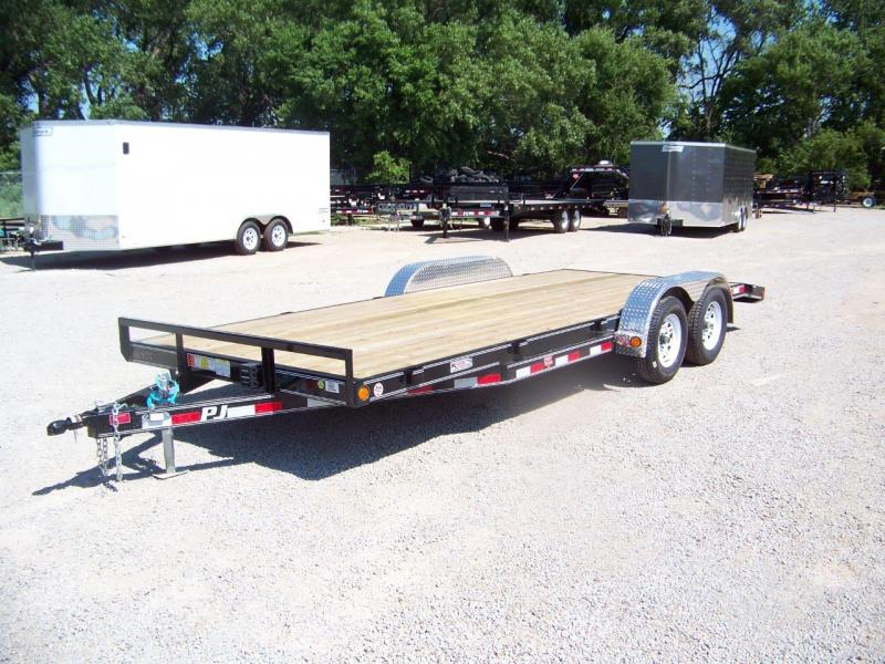 "2018 PJ Trailers 5"" Channel Open Carhauler"