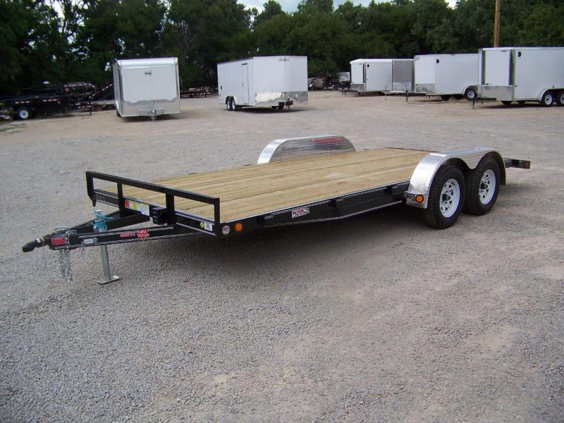 "2018 PJ Trailers 18' x 4"" Channel Open Carhauler Trailer"