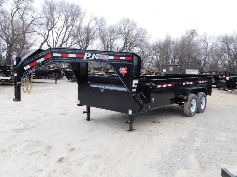 2019 PJ 16' [DL] Low-Pro Gooseneck Dump Trailer