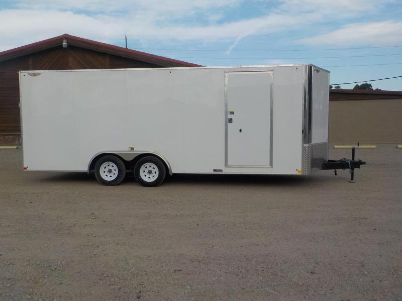 2019 H and H Trailer 101X20 TANDEM FLAT TOP HH VNOSE 7K CARGO