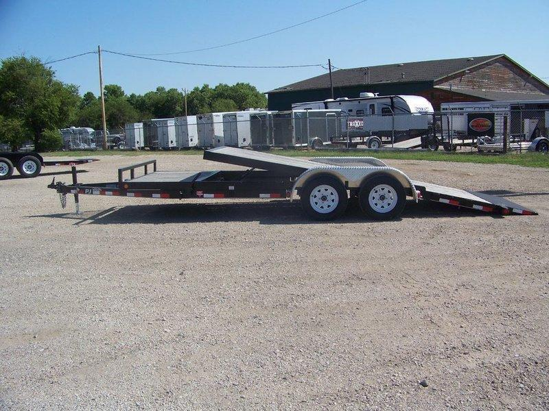 "2016 PJ Trailers 5"" Channel Tilt Carhauler (T5) 20'"