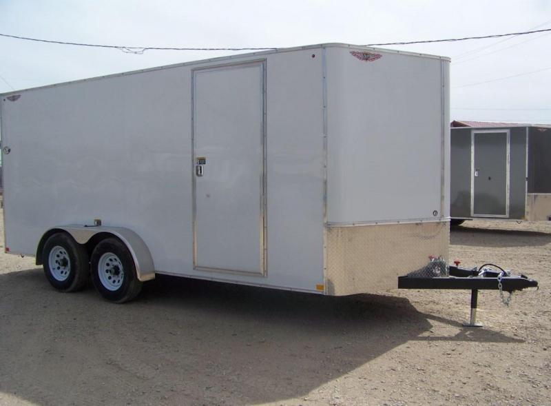 2018 H&H 7X16 TFT Tandem Enclosed Cargo