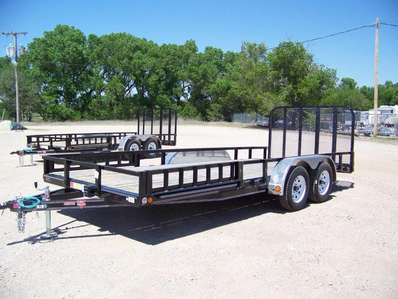 "2018 PJ Trailers 18' x 83"" Tandem Axle Channel Utili Trailer"